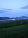 Moon over Kyle of Tongue